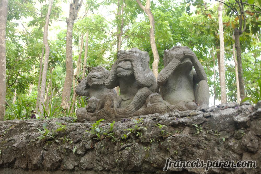 Statue Monkey Forest Ubud Bali