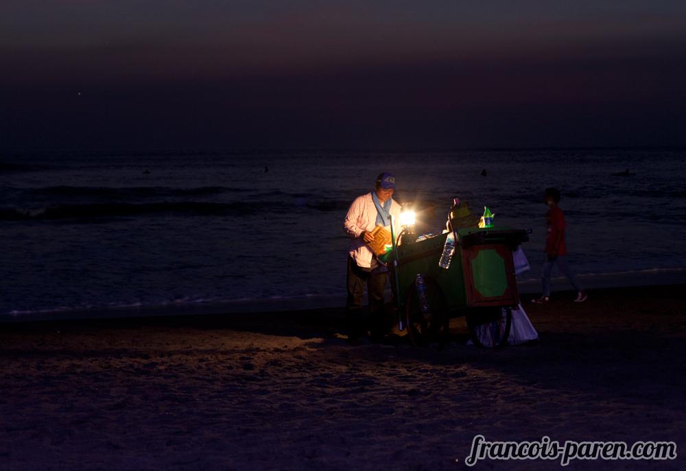 Mais grillé sur plage de Canggu
