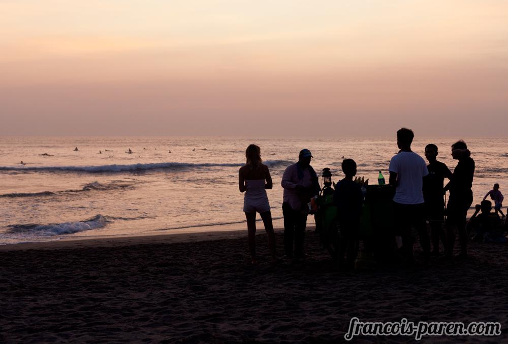 couché de soleil plage de Canggu Bali